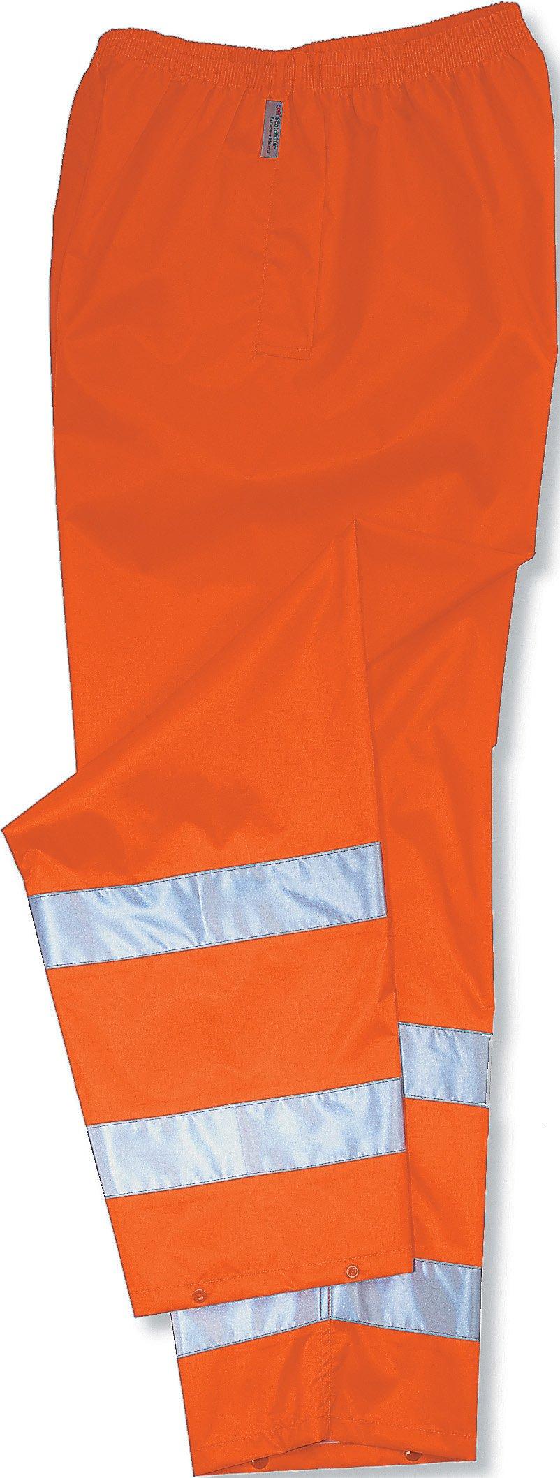 Ergodyne GloWear 8925 ANSI High Visibility Orange Reflective Thermal Safety Pants, 4XL