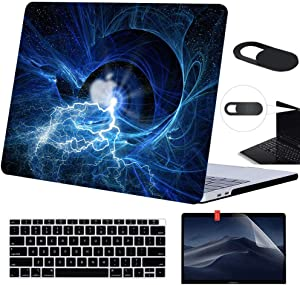 Funut MacBook Air 13 Inch Case Bundle 4 in 1 Hard Plastic Laptop Case with Screen Protector Keyboard Cover Webcam Cover Protective Matte Smooth Cover for Mac Air 13 Inch A1369 A1466, Magic Eye
