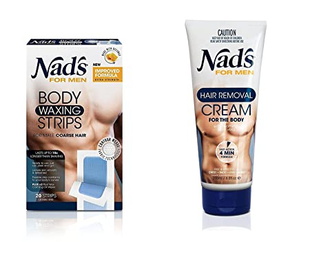 Nad's for Men Hair Removal (Cream + Strips (Combo)) Hair Removal Creams at amazon