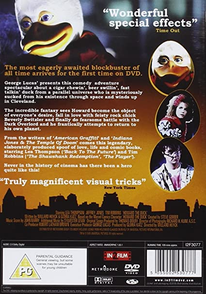 Unopened Pack HOWARD THE DUCK Movie Cards ~ Lea Thompson Jeffrey Jones