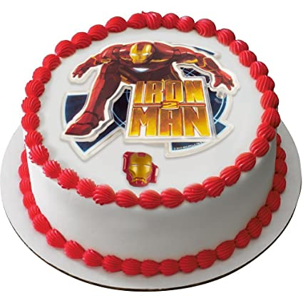 DecoPac Iron Man 2 Cake Decorating Kit Includes Topper And Ring