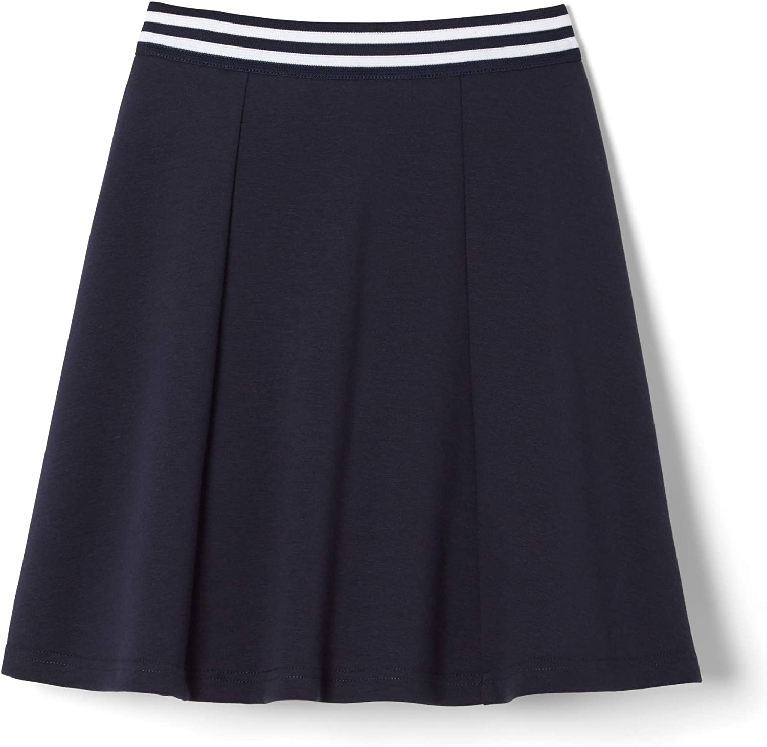 10-12 French Toast Big Girls Contrast Waistband Scooter Skirt Navy