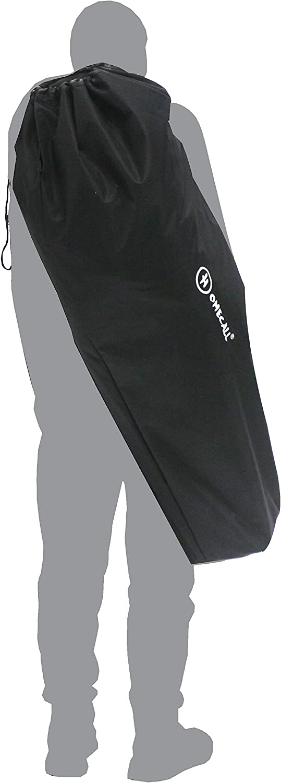 XXL Silla redonda de camping plegable negro//crema Homecall