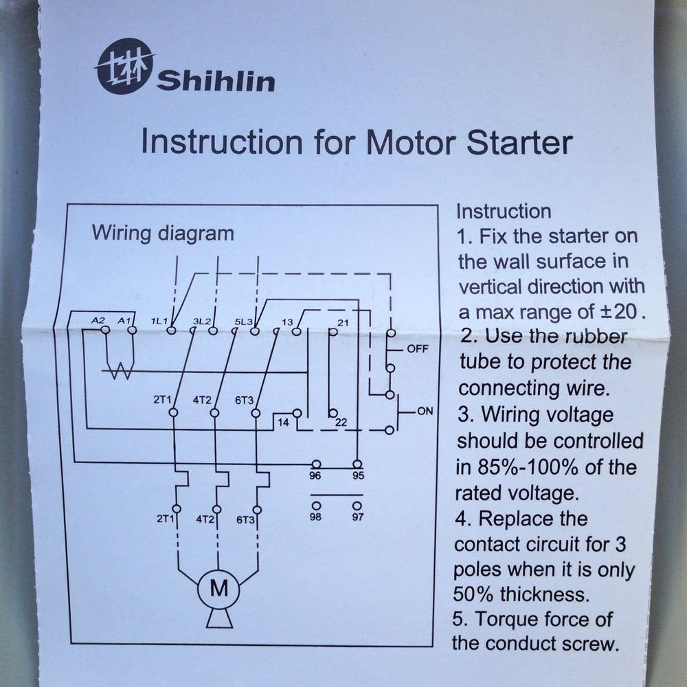 719Qya3qv6L._SL1000_ 5 hp single phase magnetic starter motor control, shihlin p30tpb single phase magnetic starter wiring diagram at n-0.co