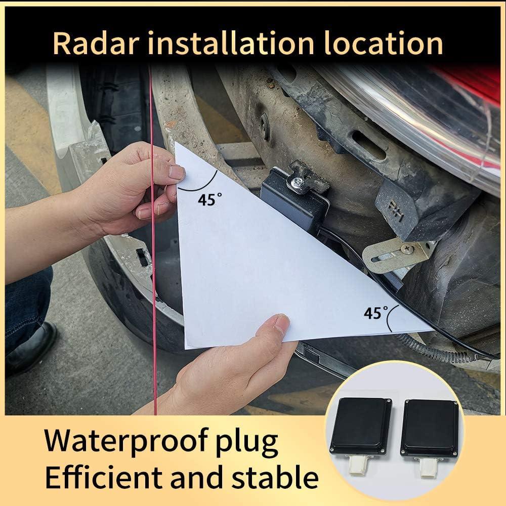 by-J 24GHz Microwave Radar Blind Spot Detection System Monitors Sensor Millimeter Wave Radar BSD BSA BSM Blind Spot Monitoring System Change Lane Aided Kit LED General 3rd
