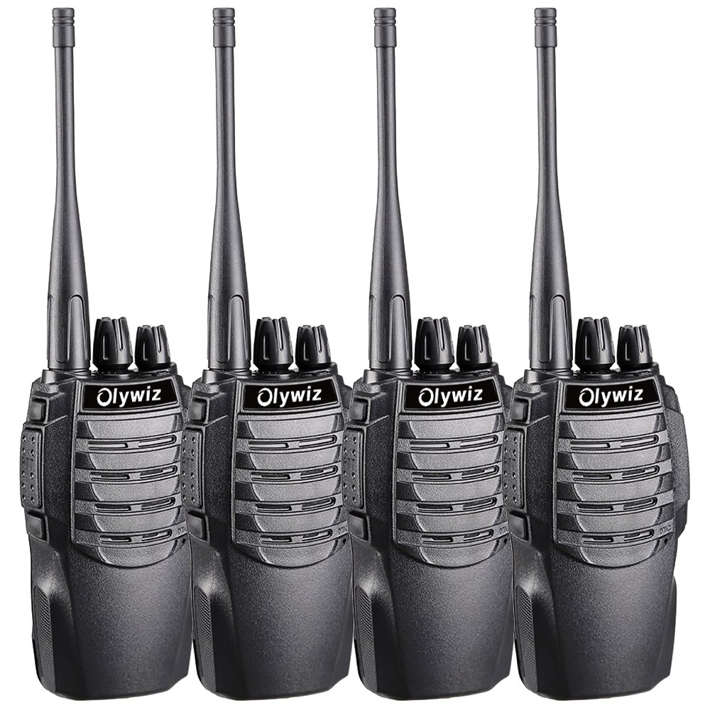 Olywiz HTD826 Two-Way Radio Long Range Rechargeable Walkie Talkies for Adults 1800mAH Battery Ultra-Long Standby Loud Clear Dual Desktop Charger with USB Cable 4 Pack