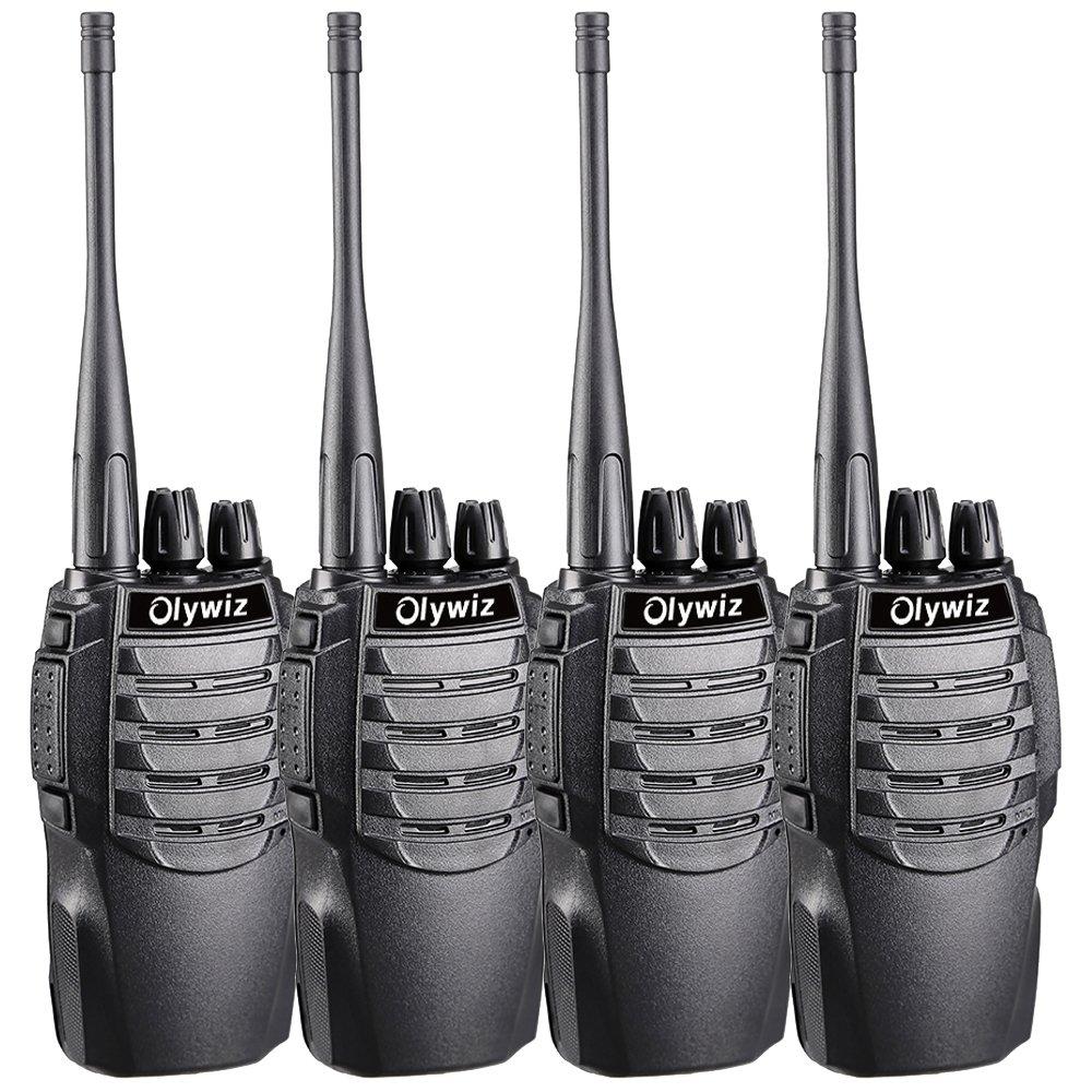 Walkie Talkies 1800mAh Li-ion Battery IP54 Protection Olywiz Sport Car Shape Designed Long Range Two Way Radios 4 Pack HTD-826