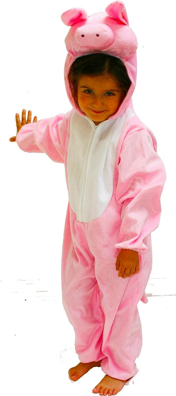Fun Play disfraz animal cerdo niño - animal Onesie cerdo para niños de 5-7 años (122 cm) talla L: Amazon.es: Juguetes y juegos