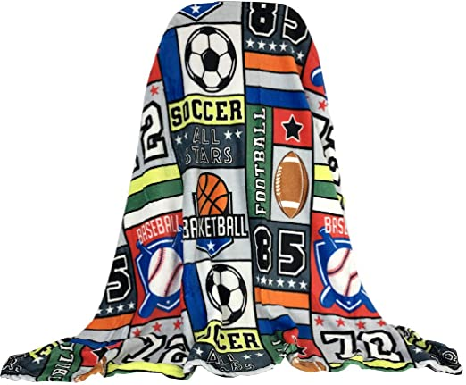 Super Soft Plush Sports-Stars Throw