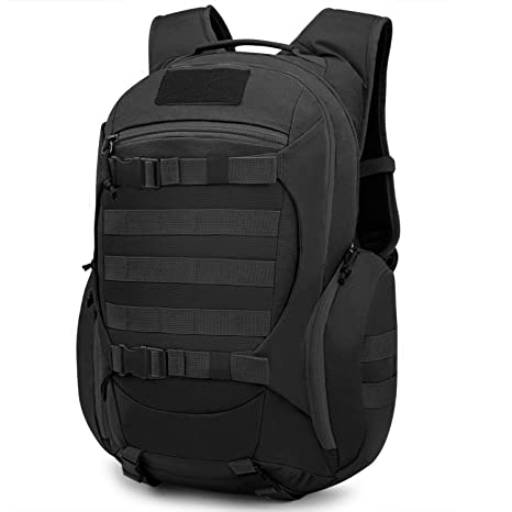 Mardingtop 28L Tactical Backpacks Molle Hiking daypacks for Camping Hiking  Military Traveling 28L-Black 1dd9218fddee0