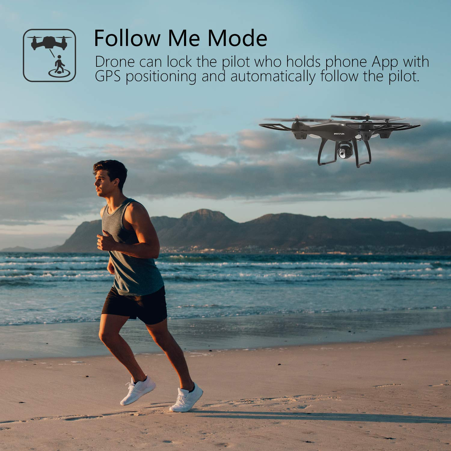 Holy Stone GPS RC Drone with FPV Camera Live Video and Auto Return Home for Adults Beginners Quadcopter with 15 Mins Flight Time, Adjustable Wide-Angle HD 720P WiFi Camera, Follow Me, Altitude Hold by Holy Stone (Image #4)