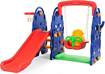 Costzon Toddler Climber 4 In 1 Outdoor Playset