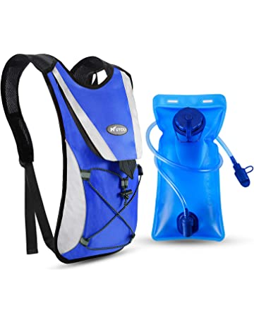 Hydration Backpack Pack Professional Outdoor Sports Running Cycling Vest Blue UK