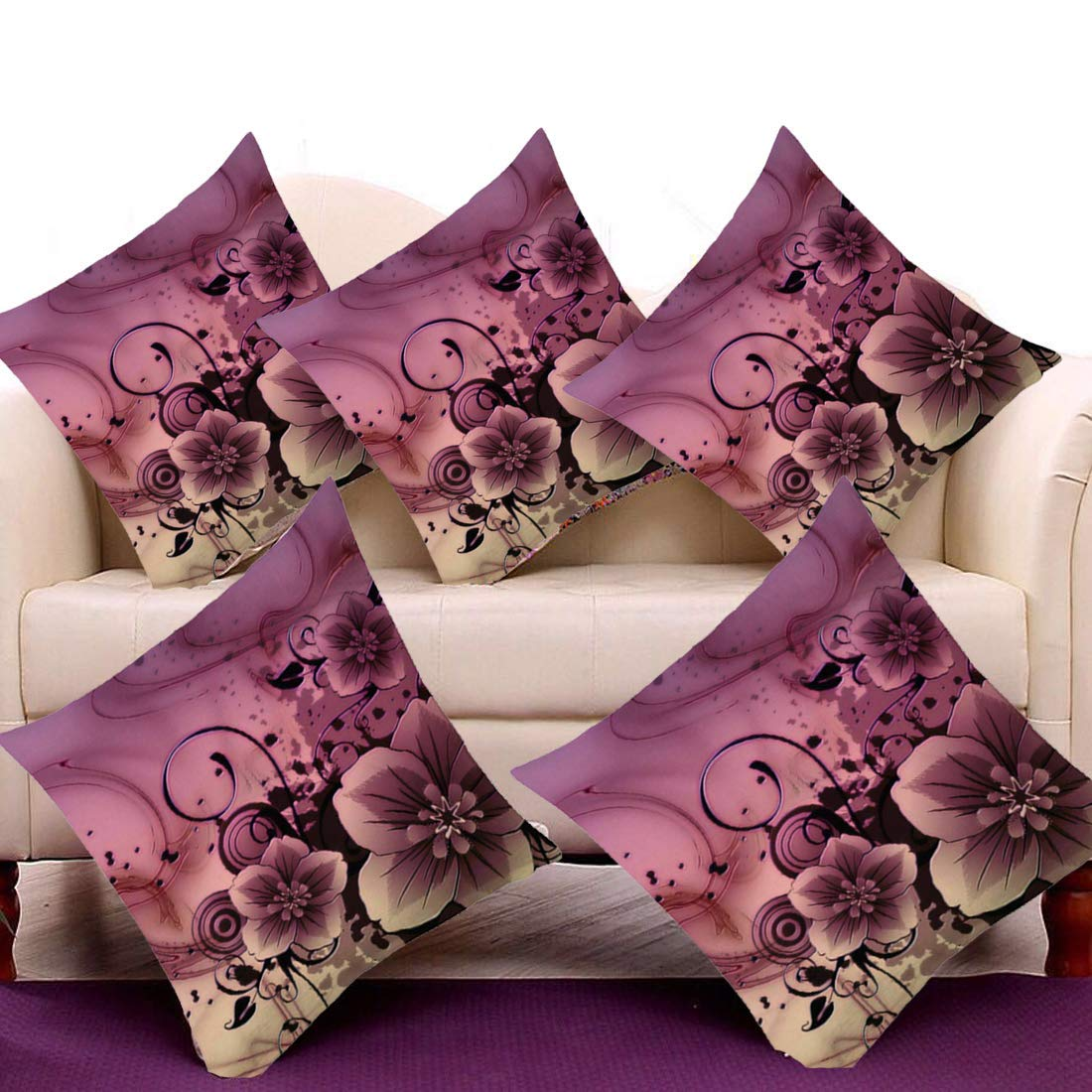 Lencol Jute Cushion Cover 16x16 Set of 5 with Digital Print in Multi Color (B07MJ35LX6) Amazon Price History, Amazon Price Tracker