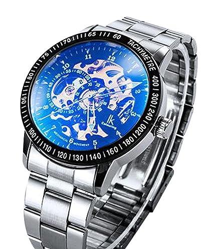 ibay wish gift IK-04 GZIE-04 - Reloj para hombres, correa de acero inoxidable color plateado: Amazon.es: Relojes