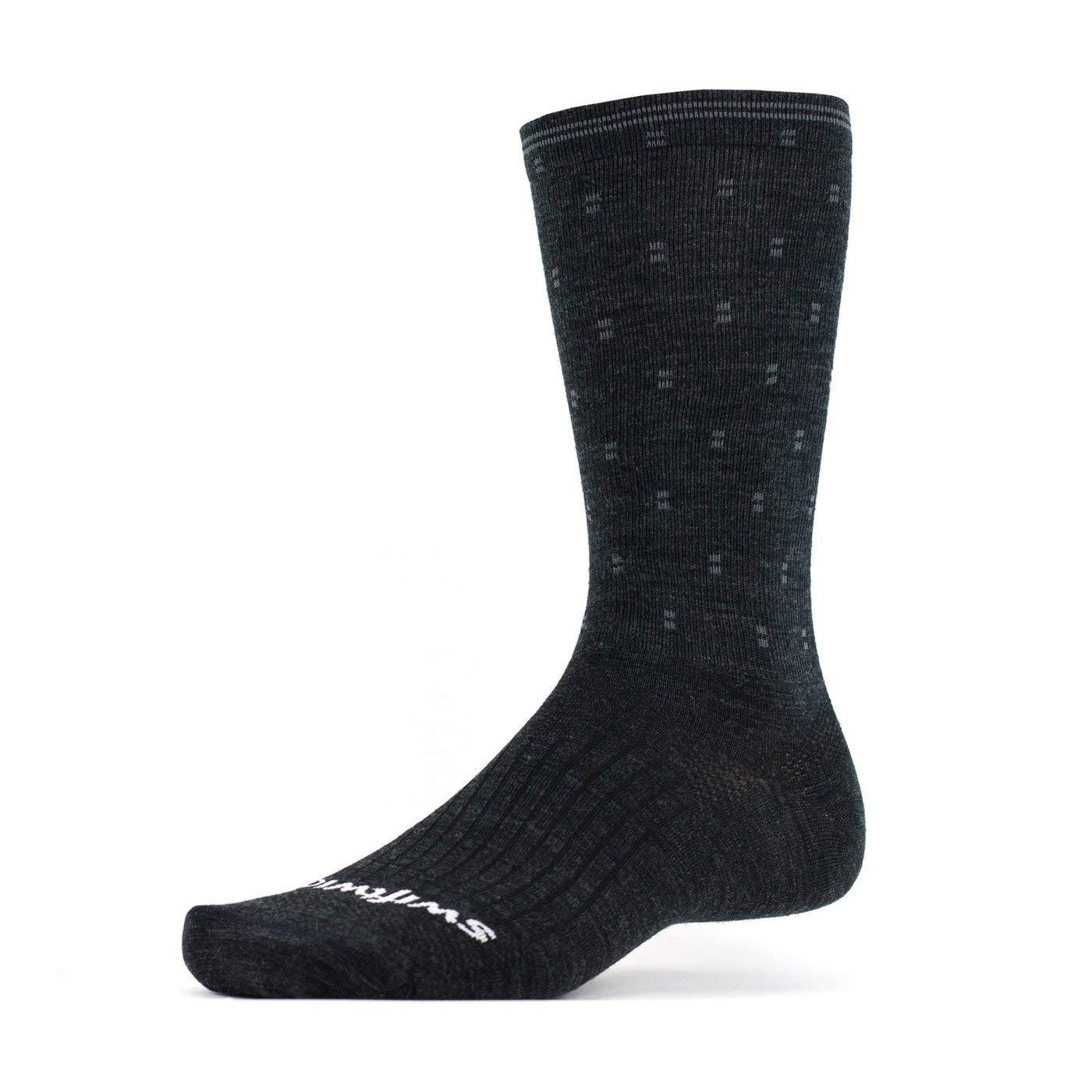 Breathable Compression Socks Swiftwick PURSUIT BUSINESS EIGHT Soft Merino Wool Dress Socks