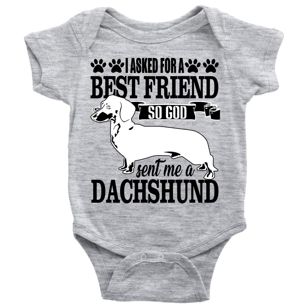ceba5403a Amazon.com: A Dachshund T Shirt, A Best Friend Baby Bodysuit: Clothing