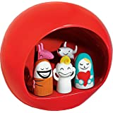 Alessi AMGI10 R - Presepe, piccolo, colore: Rosso