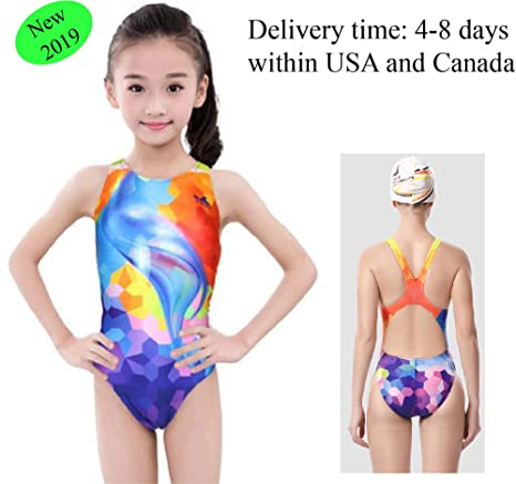 8b185f9e85 Amazon.com: YingFa One Piece Racing Swimsuit Girl Swimsuit Training Swimsuit  for Girls, Girl's Size 4-6/Speedo Size 24/China Size XS, 655: Sports &  Outdoors