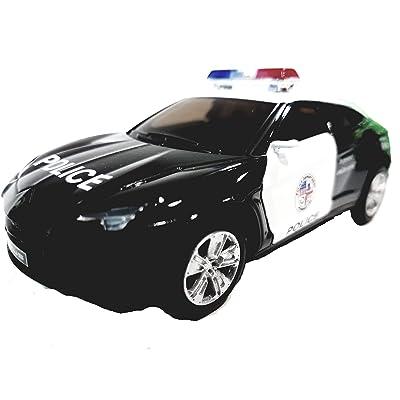Kinsmart Lamborghini URUS Black & White Police Squad Car 1/36 Scale Diecast Interceptor: Toys & Games