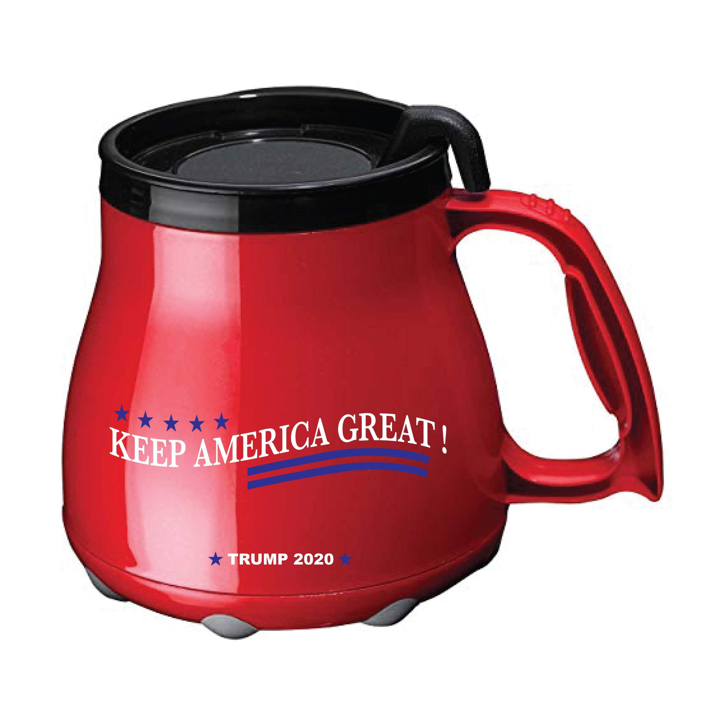 Low Rider insulated Mug 16oz Desk Mug Coffee Mug, Keep America Great ! (Red)