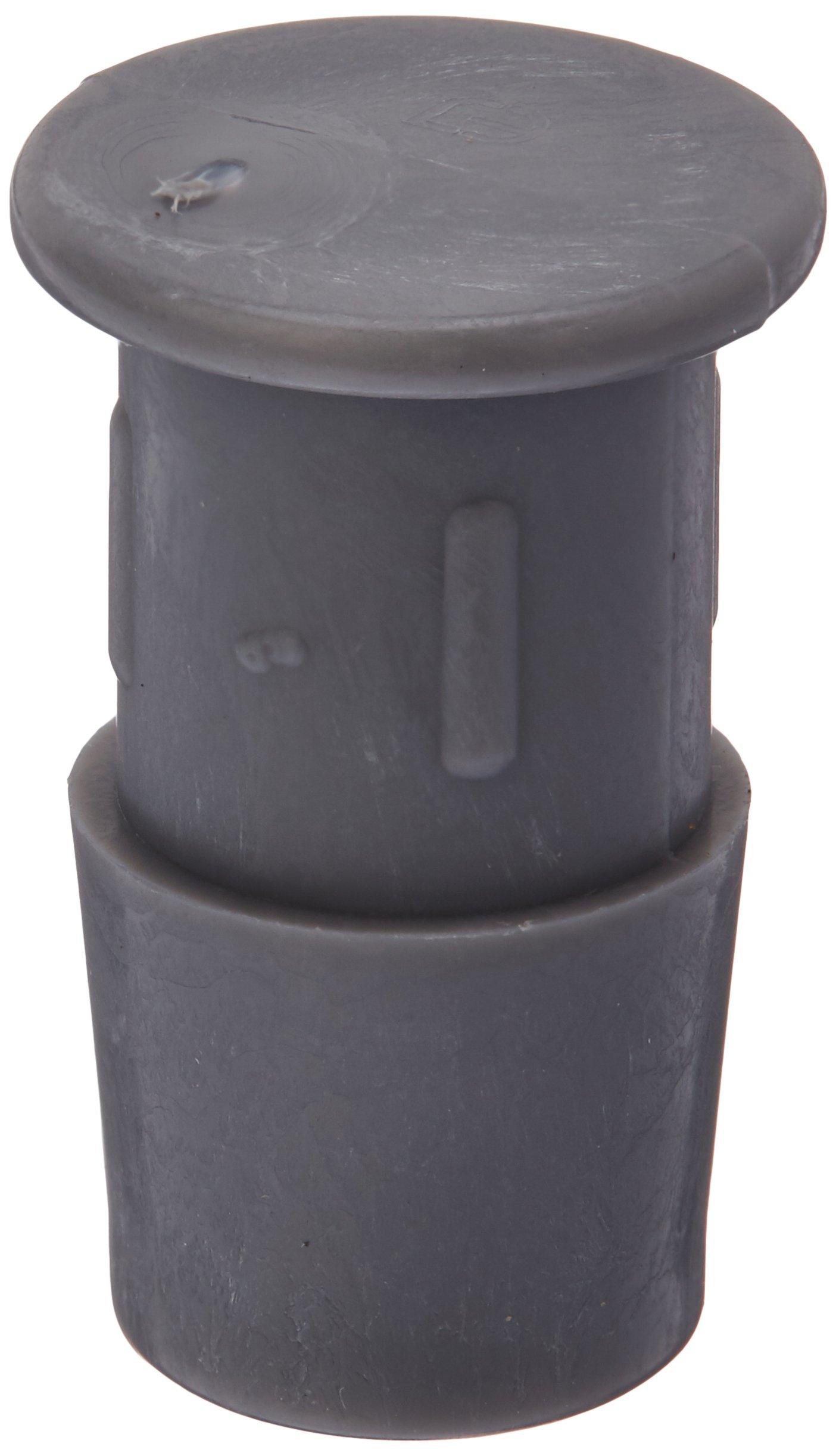 Eldon James P0-8PVDF P0-1NK Industrial Gray Kynar Barbed Insert Plug, 1/2'' Hose Barb (Pack of 10)