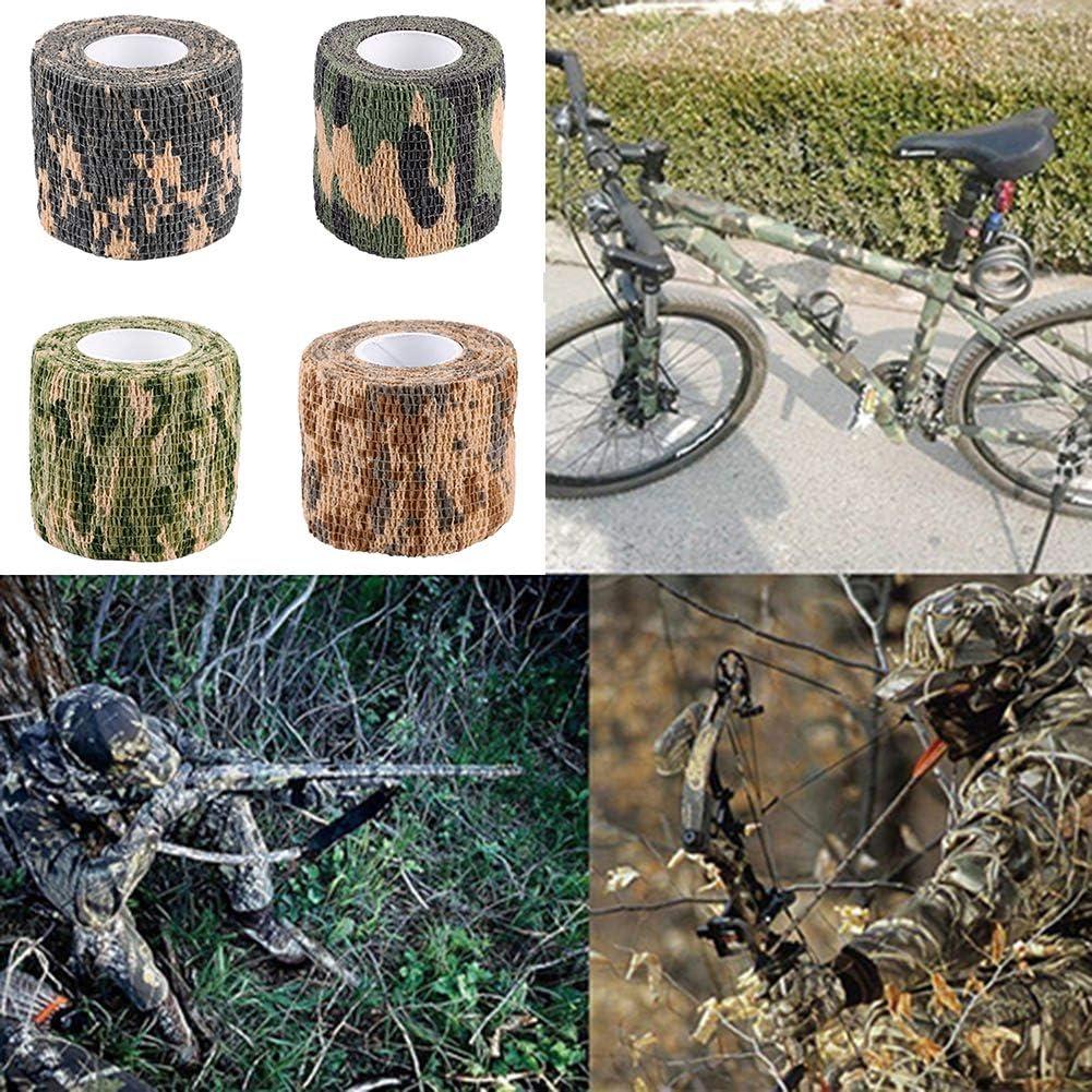 xMxDESiZ Ruban De Camouflage Ext/érieur,4.5m x 5cm Militaire Randonn/ée en Plein air Camping Chasse Camouflage Furtif Camo Tape Camouflage ACU