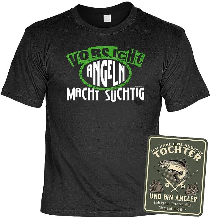 h/übsche Tochter und Bin Angler /… Anglershirt Angelsport Bekleidung Geschenkset Lustiges Vater Angler Spr/üche T-Shirt