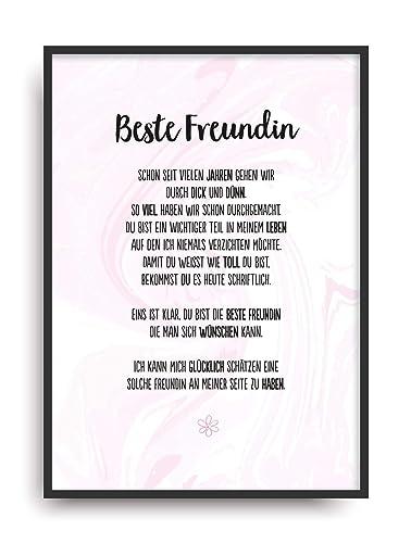 Geschenk Karte Beste Freundin Kunstdruck Ehrentitel Kollegin