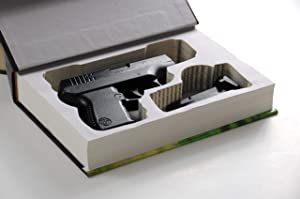 Real Hidden Book Safe for Compact Handguns - Glock Kimber Ruger S&W - Concealed Gun Storage - Home Defense