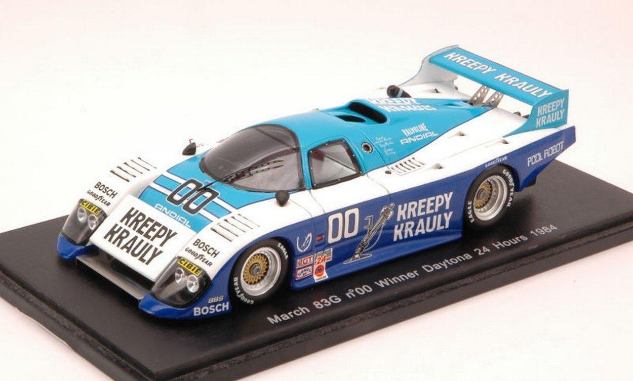 NEWES Spark Model S43DA84 March 83G N.00 Winner Daytona 1984 MERWE-Duxbury-Martin 1:43