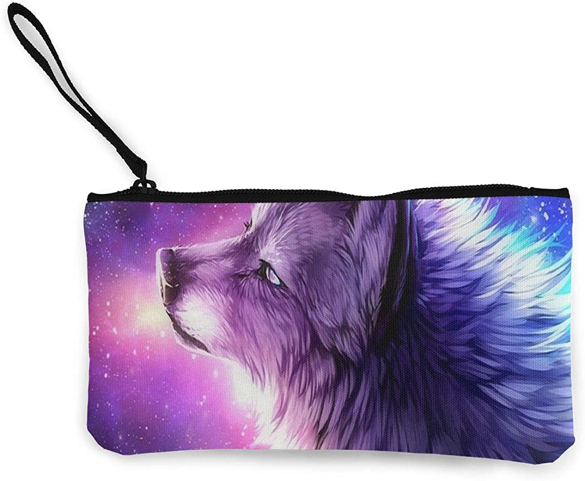 Coin Purse Cool Galaxy Wolf...