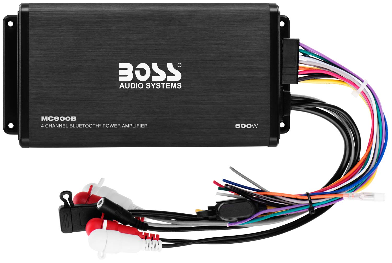 Boss Audio Mc900b 500 Watt 4 Channel All Terrain Wiring Diagram For Marine Stereo Weather Resistant Amplifier System With Bluetooth Multifunction Remote Car Electronics