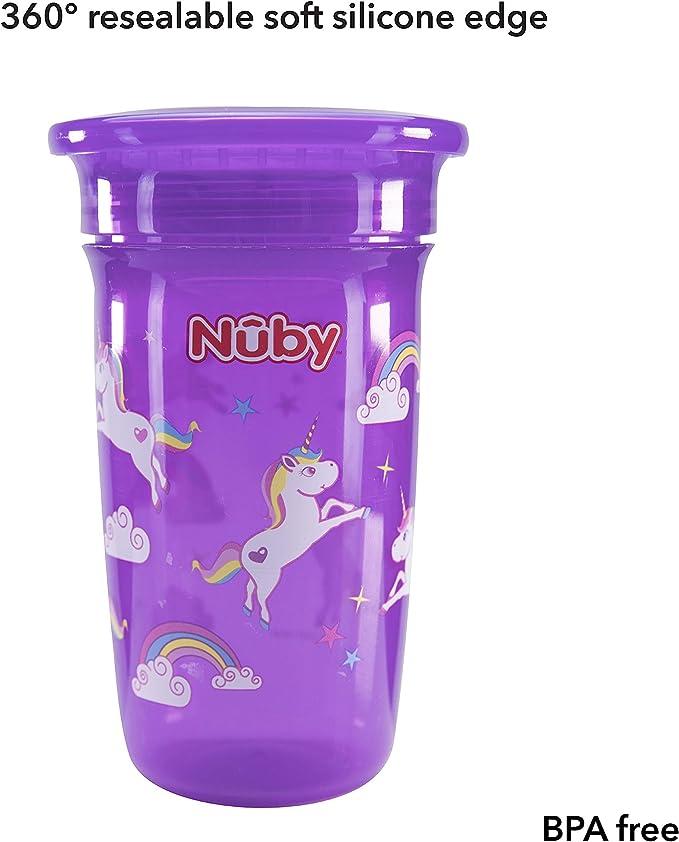 Nuby No derrames taza de 360 grados, Maxi, pack de 2 [colores surtidos]: Amazon.es: Bebé