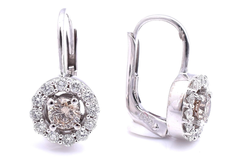 Amazon.com: LeVian Chocolate Diamond Earrings 0.90 cttw Euro Wire ...