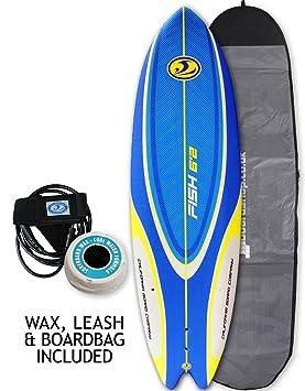 California Board Company Sushi Fish paquete suave Foamie tabla de surf de 1,9 m