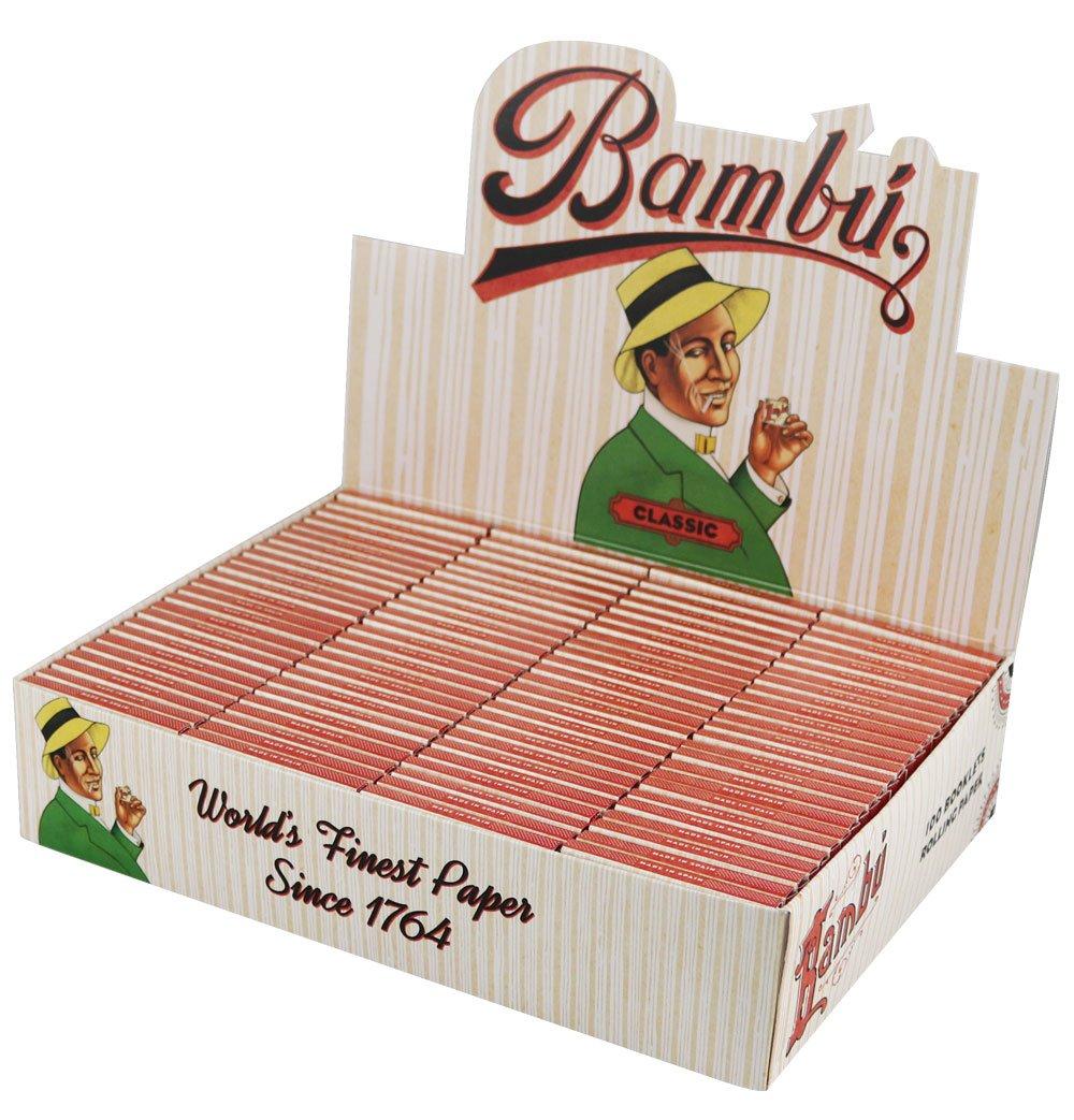 100pc Display - Bambu Classic Regular Rolling Papers by bambu (Image #1)