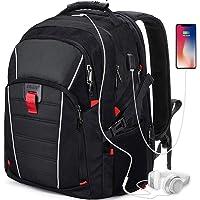 Zaino Porta PC 17.3 Pollici Laptop Impermeabile USB Zaini Notebook Scuola Viaggio Backpack Borsa Uomo Donna Nero