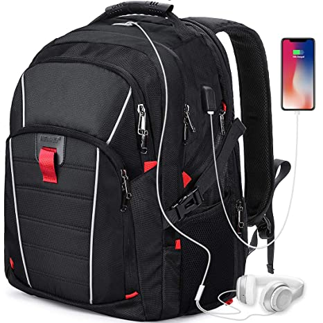 511787fbbe Zaino Porta PC 17.3 Pollici Laptop Impermeabile USB Zaini Notebook Scuola  Viaggio Backpack Borsa Uomo Donna