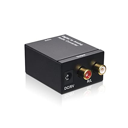 Syntrific Digital to Analog Audio Converter Coaxial Toslink Audio Signal to L/R Stereo Audio