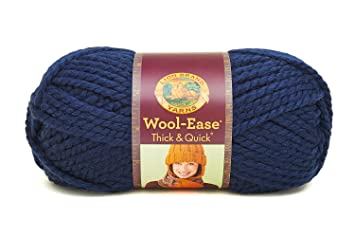 amazon com lion 640 110 wool ease thick quick yarn 97 meters navy