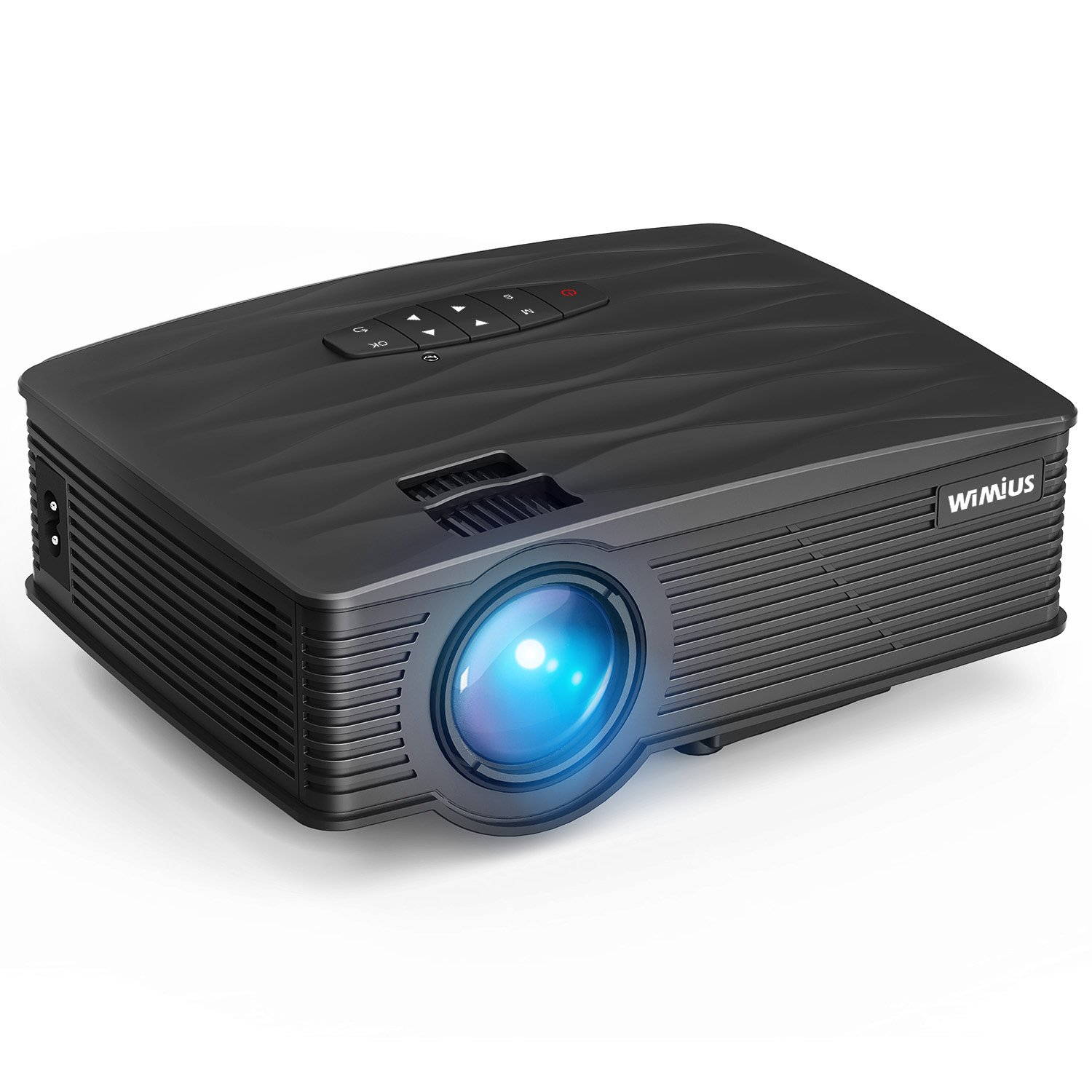 Projector, WiMiUS Upgraded 2200 Lumens Mini Projector with 170'' Display, 50,000 Hours LED Full HD Video Projector 1080P Support, Compatible with Fire TV Stick, HDMI, VGA, USB, AV, TF for Home Theater
