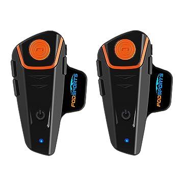 BT-S2 Intercom Moto étanche Bluetooth Casque Oreillette Moto Interphone  pour Moto   Ski ( c54de63aa75f