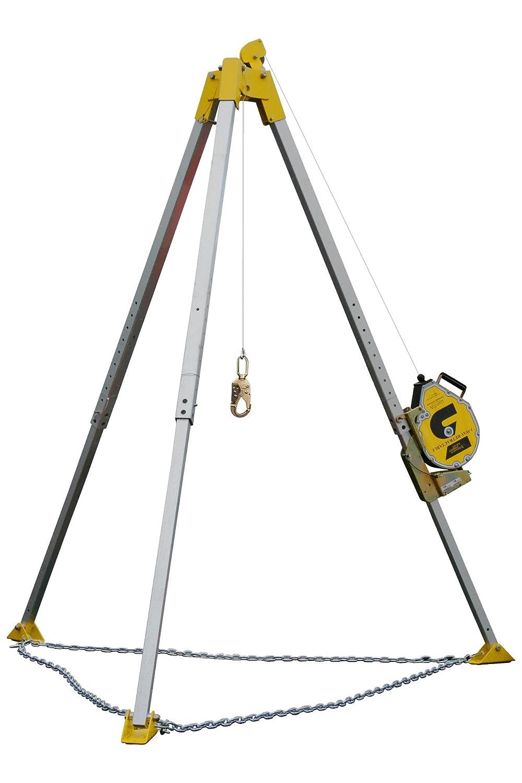 Guardian 15050 Confined Space Tripod Kit: Tripod 15030, Winch, Winch Adaptor, Ultra Sack GUARDIAN FALL PROTECTION