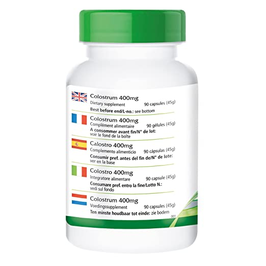 Calostro 400 mg - 1 mes - ALTA DOSIS - 90 cápsulas - desde Alemania - libre de EEB - procesada con cuidado: Amazon.es: Salud y cuidado personal