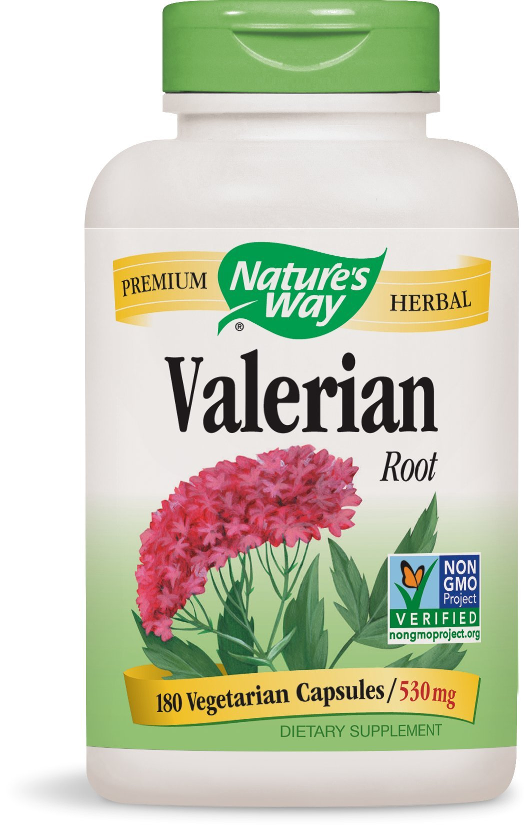 Nature's Way Valerian Root 530mg, 180 Capsules (Pack of 2)