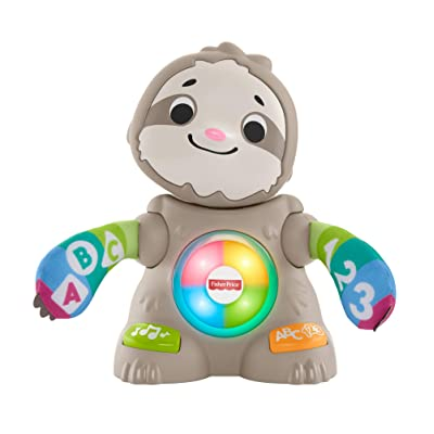 Fisher-Price Linkimals Smooth Moves Sloth - Interactive Educational Toy with Music, Lights, and Motion for Baby Ages 9 Months & Up: Toys & Games