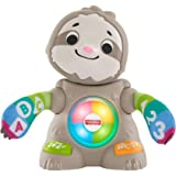 Fisher-Price Linkimals Smooth Moves Sloth, clapping baby toy with music, lights, and learning songs for babies & toddlers age