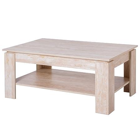 homcom Tavolino da caffè da Salotto Soggiorno Moderno in Legno di Design  Portata 60kg 110x65x47cm