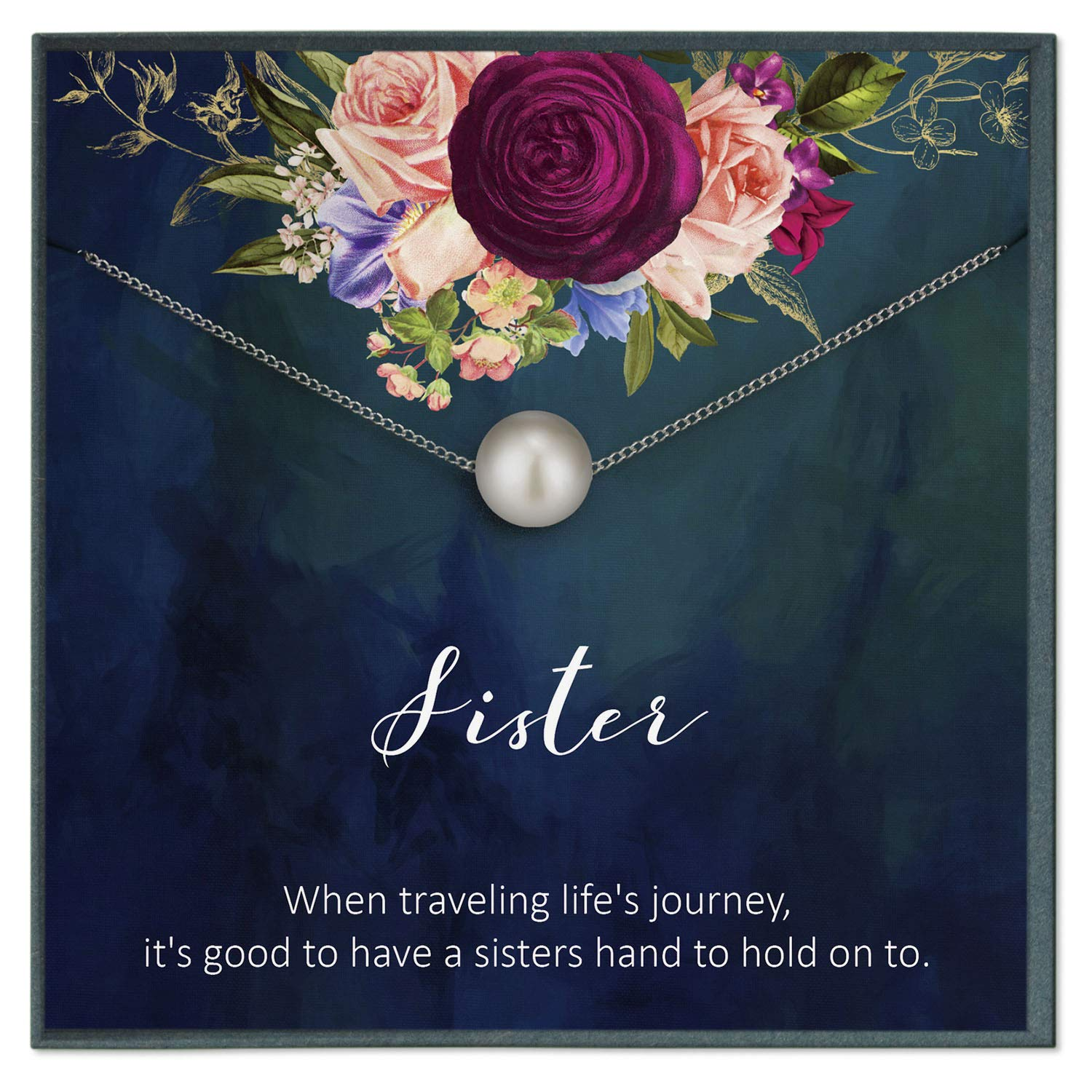 Phenomenal Amazon Com 5 Sister Necklace For Big Sister Gifts For Sister Personalised Birthday Cards Paralily Jamesorg